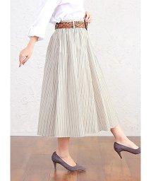 HAPPY EXP/マルチストライプ ベルト付スカート/501983525