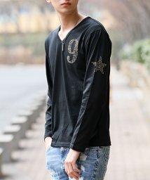 TopIsm/ラインストーンナンバリング長袖Tシャツ/501983789