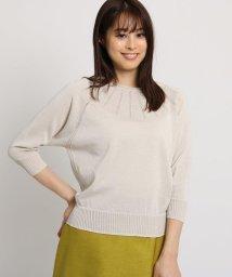 SunaUna/【洗える】透かし編みラインプルオーバー/501985350