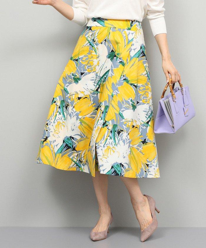 ROPE' ビックフラワーラップスカート
