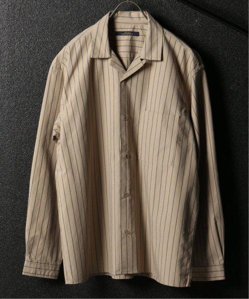 JOURNAL STANDARD relume Men's(ジャーナルスタンダード レリューム メンズ)/ウェザー ストライプ オープンシャツ/19050464331010