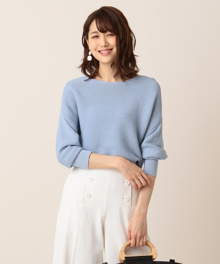 【洗える】 ギマコットンガーター編みプルオーバー