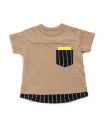 BREEZE / JUNK STORE/ネット限定 ストライプ切替Tシャツ/501588971