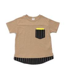 BREEZE / JUNK STORE/ネット限定 ストライプ切替Tシャツ_ジュニア/501588972