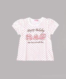 KISS DROP/【カタログ掲載】天竺ドット柄スイーツプリントTシャツ/501953516
