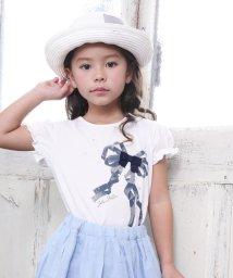 BeBe/リボンプリントTシャツ/501954265