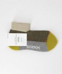 green label relaxing/[別注][ラソックス]rasoxカラーMIX SC /ソックス/501965098