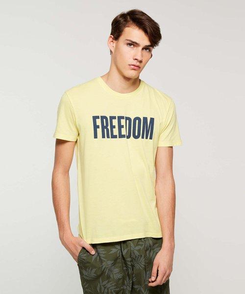 SISLEY(シスレー(メンズ))/オーガニックコットンプリント半袖Tシャツ・カットソー/19P3TM4O12F7