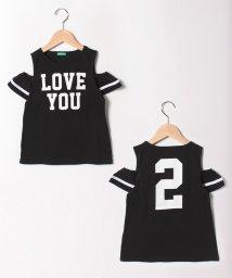 BENETTON (UNITED COLORS OF BENETTON GIRLS)/オープンショルダープリント半袖Tシャツ/501966614