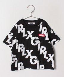 X-girl Stages/でかロゴ総柄Tシャツ /501979792