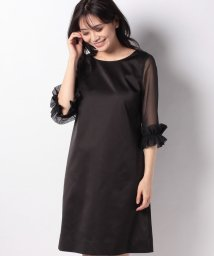 MISS J/サテン×ジョーゼット ドレス/501980853
