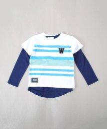 WASK/ボーダーTシャツ&ロングTシャツセット(110~130cm)/501988762