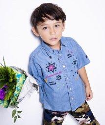 WASK/カラフル刺繍デニムワイドシャツ(120cm~130cm)/501988822