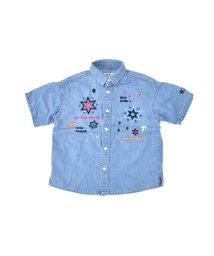WASK/カラフル刺繍デニムワイドシャツ(140cm~160cm)/501988823