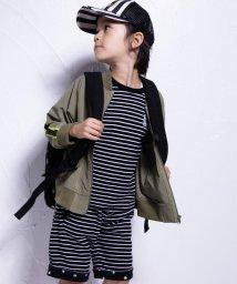 WASK/ボーダー×星リバーシブル天竺Tシャツ(110cm~130cm)/501989062