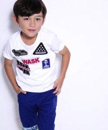 WASK/天竺ワッペン付Tシャツ(110cm~130cm)/501989066