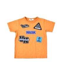 WASK/天竺ワッペン付Tシャツ(140cm~160cm)/501989067
