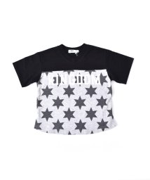 WASK/天竺前星柄ワイドTシャツ(140cm~160cm)/501989069