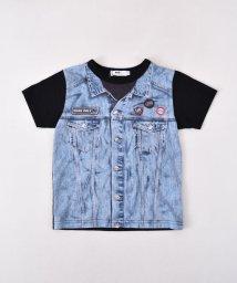 WASK/天竺ジージャン風プリントTシャツ(110cm~130cm)/501989076