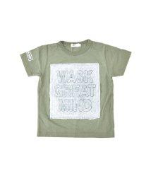 WASK/天竺デニムパッチエンボスTシャツ(140cm~160cm)/501989095
