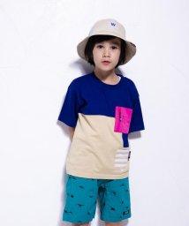 WASK/天竺バイカラーワイドTシャツ(110cm~130cm)/501989098