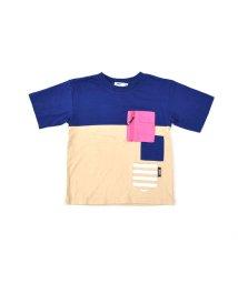 WASK/天竺バイカラーワイドTシャツ(140cm~160cm)/501989099