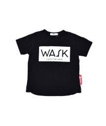 WASK/天竺ボックス箔プリントTシャツ(140cm~160cm)/501989103