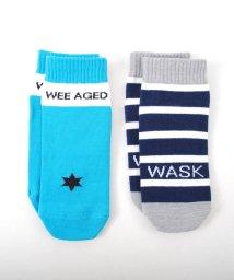WASK/無地+ボーダーショートソックス/501989190