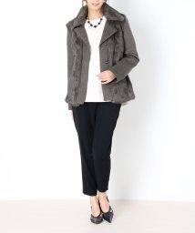 sankyoshokai/ラビットファー付 ジャケット ナポレオンカラー/501989325
