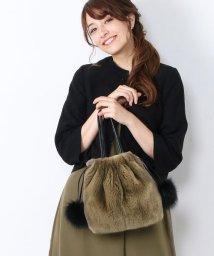 sankyoshokai/ふわふわ レッキスファー 巾着バッグ レディース ハンドバッグ/501989368