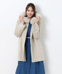 sankyoshokai/スーリー アルパカ フード付き コート フォックス 日本製/501989439