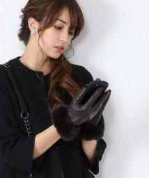 sankyoshokai/ラムレザー 手袋 レディース スマホ対応ファー付き/501989488