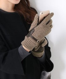 sankyoshokai/ラムレザー&ウールニットスマホ手袋/501989490