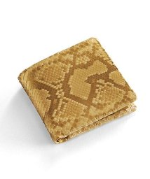 sankyoshokai/ミニ 二つ折り財布 本革パイソンレザー メンズ/501989520
