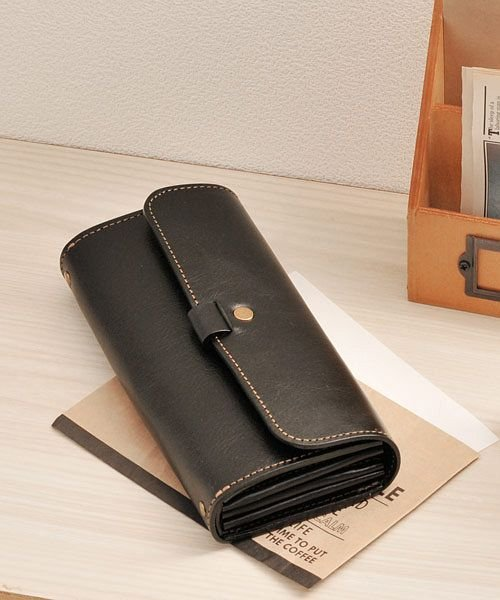 03237d45fedc HALEINE] 日本製 本革レザー 長財布 かぶせ レディース メンズ(501990690 ...
