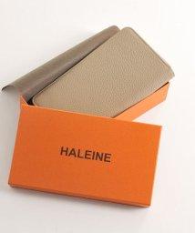 HALEINE/[HALEINE] ナチュラルシュリンクレザー 牛革 ラウンドファスナー長財布/501990694