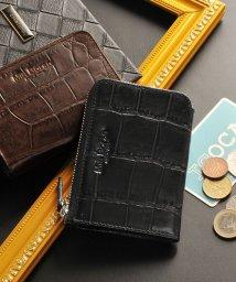 Mia Borsa/[Mia Borsa] クロコダイル型押し レザー カード&コインケース パスケース メンズ/501990707