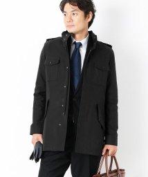 sankyoshokai/フィールド ジャケット メンズ スタンドカラー フード付き オイルドクロス風 春コート 春ジャケット ビジネス カジュアル/501990754