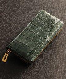 sankyoshokai/本物のクロコダイル レザー ラウンドファスナー 長財布 メンズ レディース/501990914