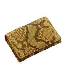 sankyoshokai/名刺入れ 本革 ダイヤモンドパイソン レザー パスケース IDケース カードケース/501990988