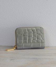 mieno/[mieno] クロコダイルレザーミニ財布ゴールドタイプ/501991067