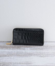 mieno/[mieno] 牛革レザークロコ型押しラウンドジップ財布/501991084