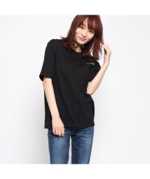 GUESS/ゲス GUESS OVERSIZE BACK TRIANGLE LOGO TEE (BLACK)/501991985