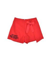 ZIDDY/【ニコプチ掲載】クレープツイルリボン付きスカートパンツ/501909581