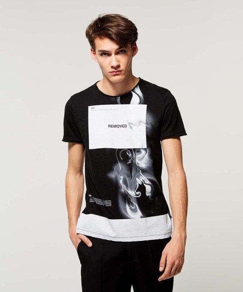 SISLEY(シスレー(メンズ))/スラブグラフィックプリント半袖Tシャツ・カットソー/19P3APUO12EI