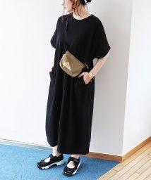 and Me.../ワッフル半袖ポケット付きTシャツワンピース/501993161