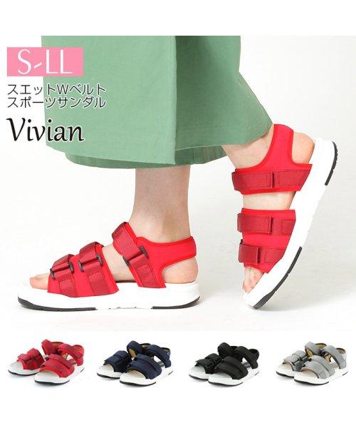 Vivian(ヴィヴィアン)/スエットWベルトスポーツサンダル/V0041SMI