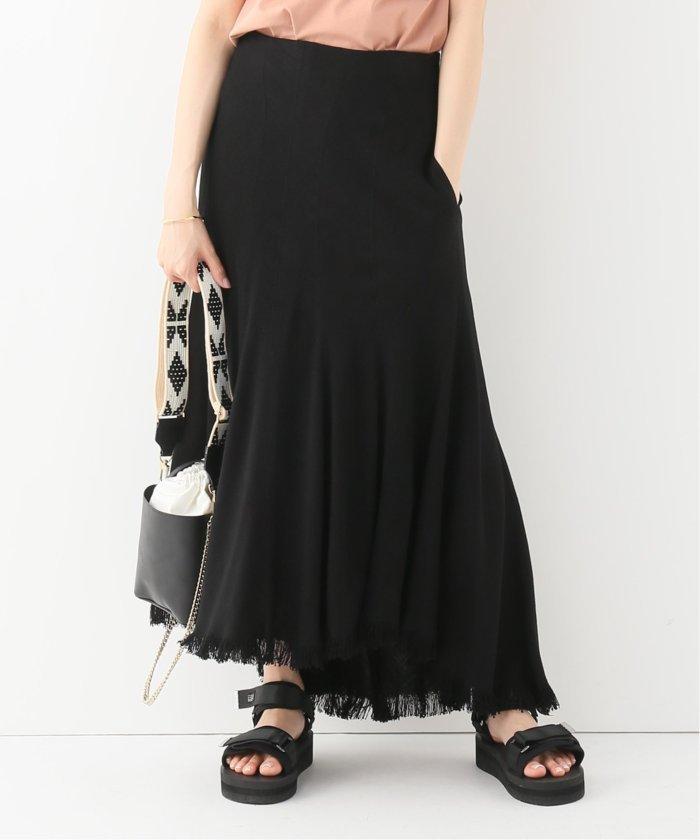 【INSCRIRE / アンスクリア】Curvceous Fringe Skirt:スカート