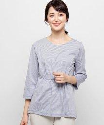 esche/ストライプ ゴムシャーリングシャツ/501994314