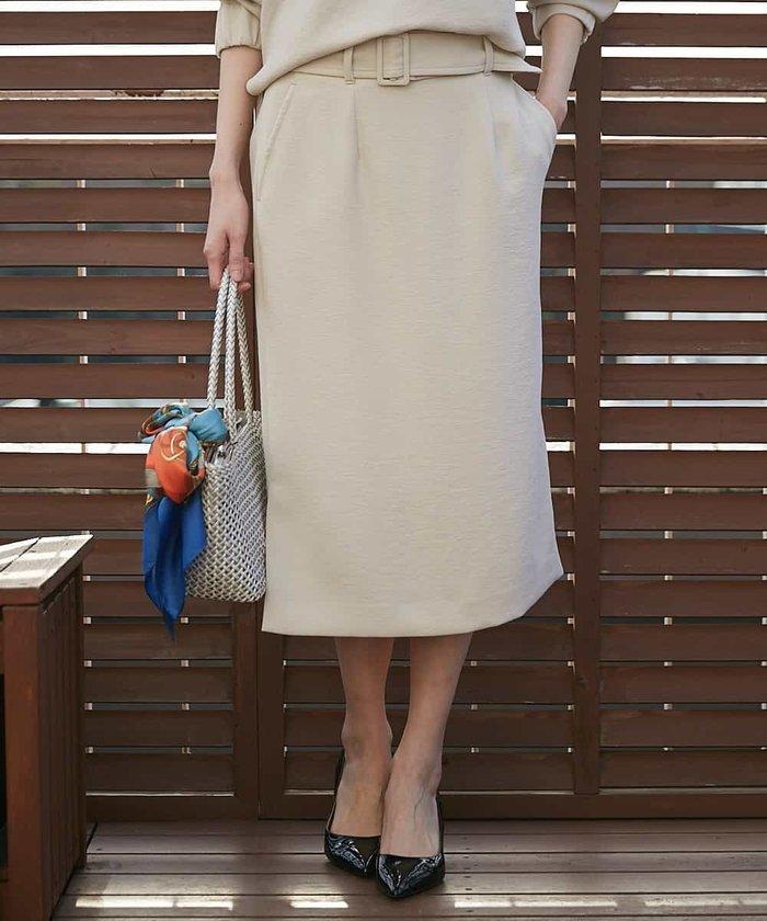 【セットアップ対応】サイドスリットタイトスカート